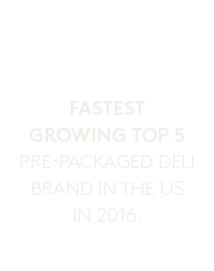 White icon for fastest growing top 5 pre-packaged deli brand in the U.S. in 2016