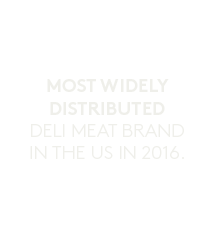 White icon for most widely distributed deli meat brand in the U.S. in 2016