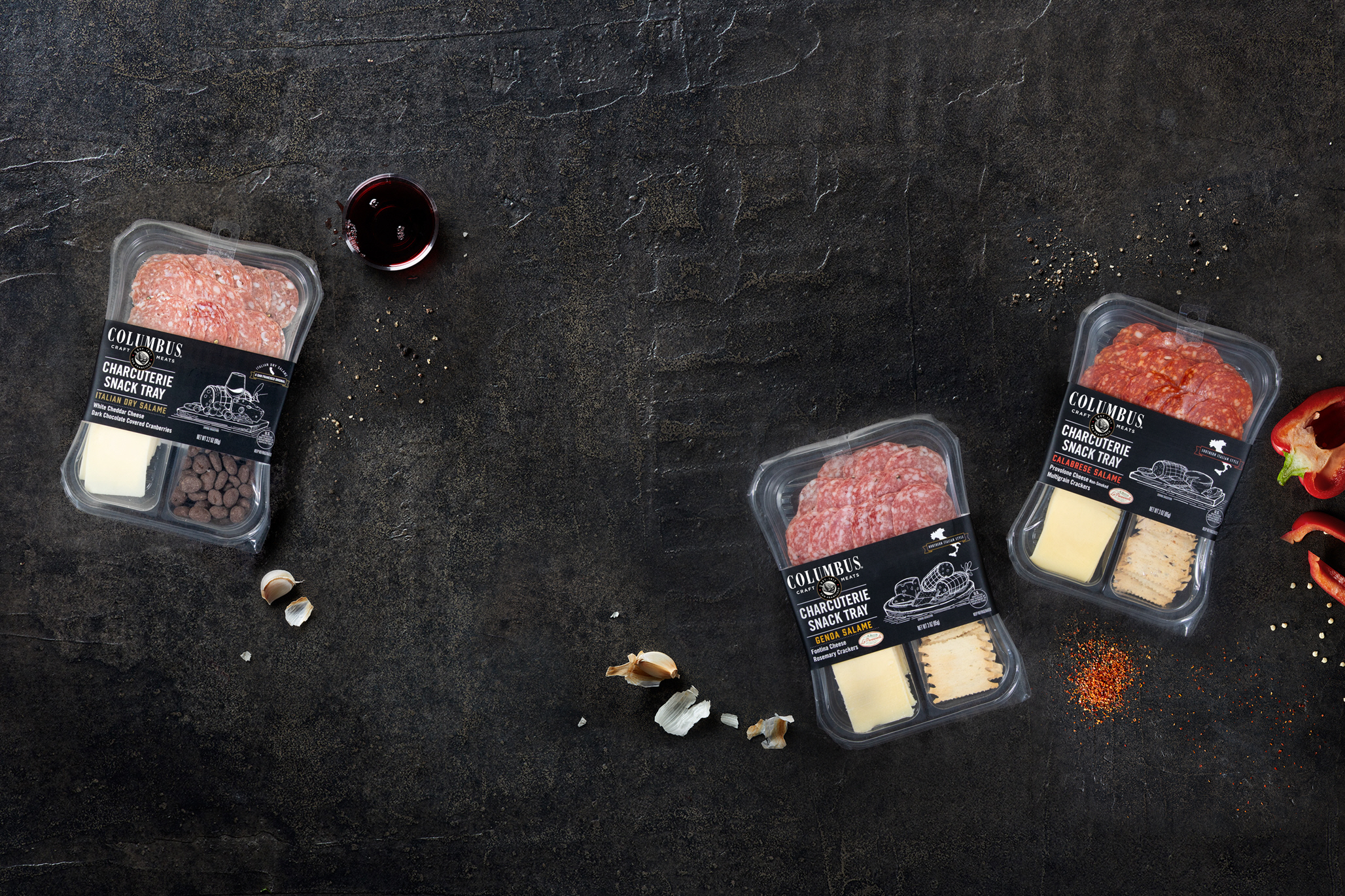 columbus craft meats charcuterie snack tray packages