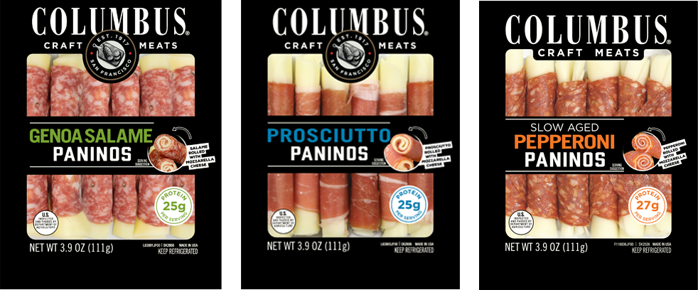 columbus craftmeats panino six piece packages